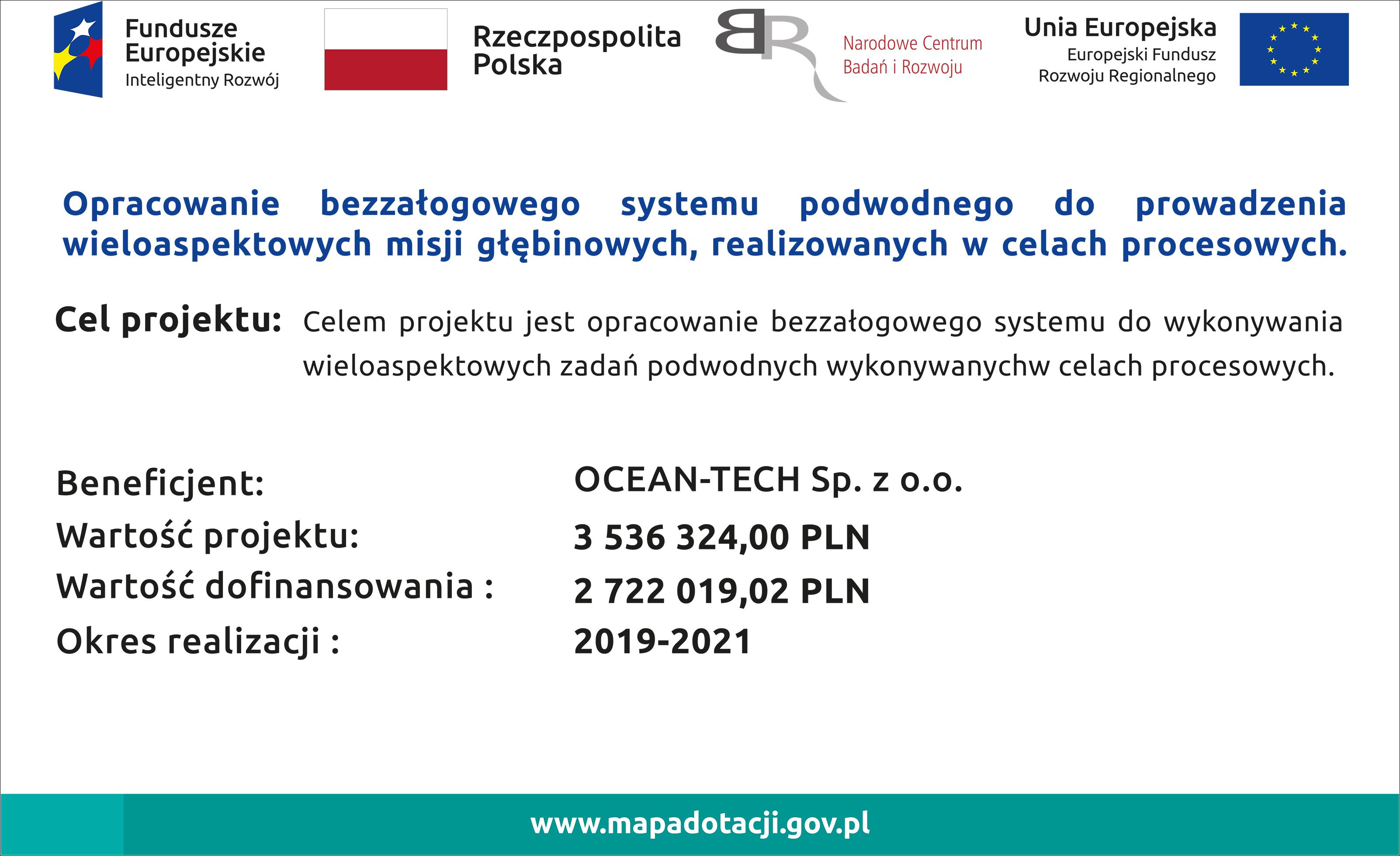 POIR.01.01.01-00-0997/18   Opracowanie bezzałogowego systemu podwodnego