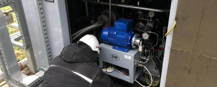 Kompresor LW1300 EH2 VD2 wykonany przegląd