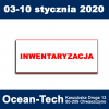Inwentaryzacja 03-10 stycznia 2020